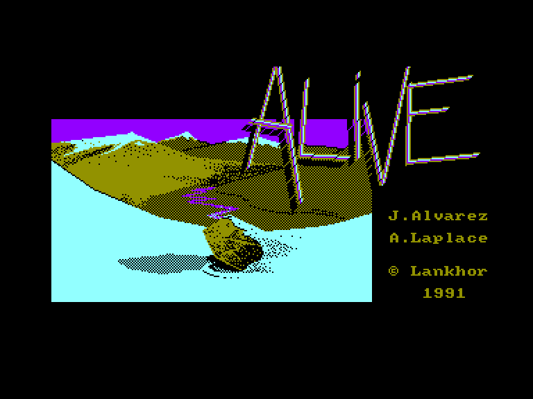 screenshot of the Amstrad CPC game Alive
