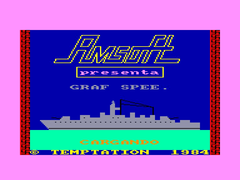 screenshot of the Amstrad CPC game Almirante Graf Spee