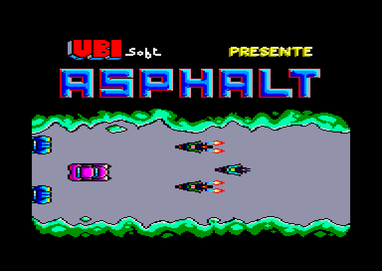 screenshot of the Amstrad CPC game Asphalt