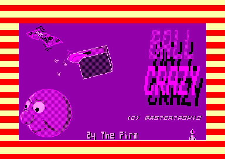 screenshot du jeu Amstrad CPC Ball crazy
