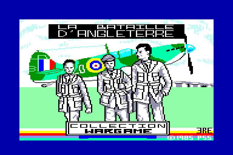 screenshot of the Amstrad CPC game Bataille d'Angleterre (la)