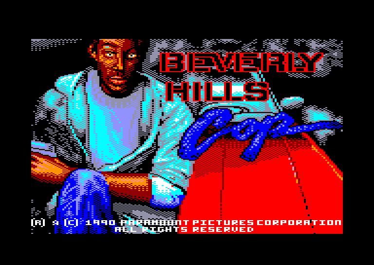 screenshot du jeu Amstrad CPC Beverly Hills Cop