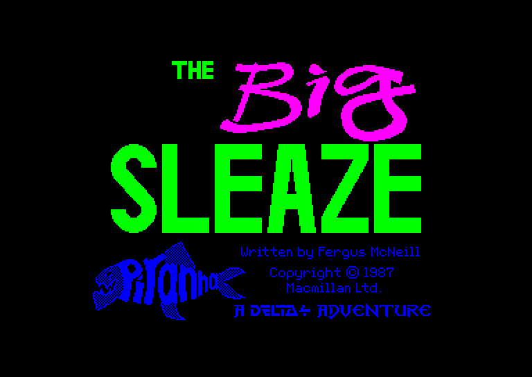 screenshot of the Amstrad CPC game Big sleaze (the)