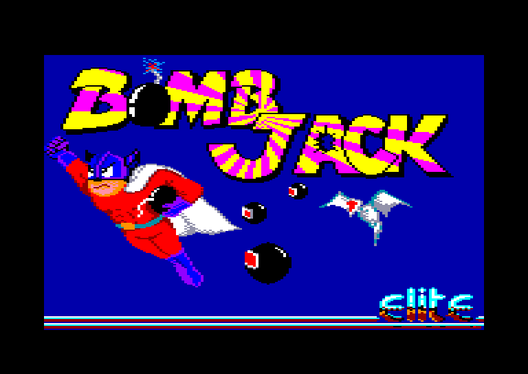 loading screen of the Amstrad CPC game Bomb Jack