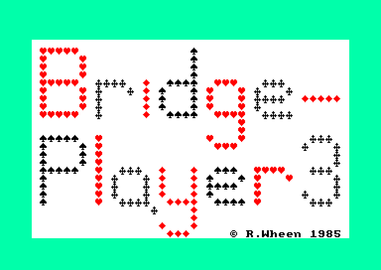 screenshot of the Amstrad CPC game Bridge Player 3