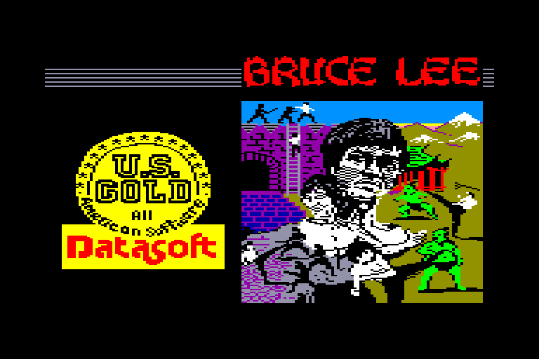 loading screen of the Amstrad CPC game Bruce Lee