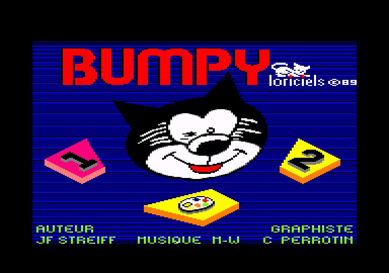 screenshot of the Amstrad CPC game Bumpy