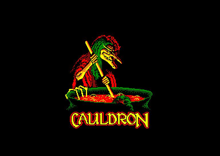 screenshot of the Amstrad CPC game Cauldron