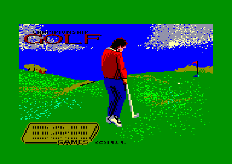 screenshot of the Amstrad CPC game Championship golf