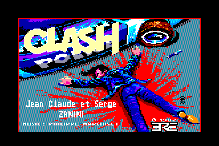 screenshot of the Amstrad CPC game Clash