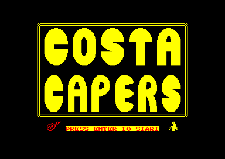 screenshot of the Amstrad CPC game Costa capers