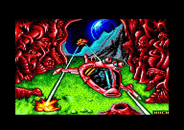 screenshot of the Amstrad CPC game Cybernoid II