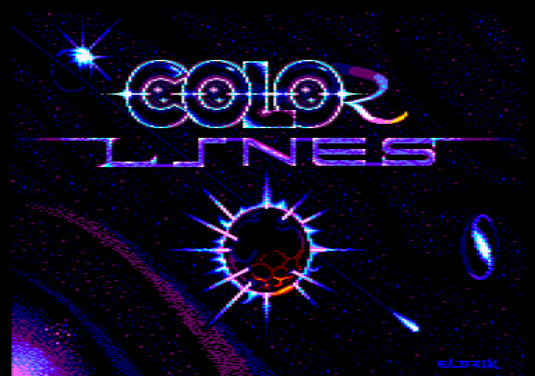 loading screen of the Amstrad CPC game Color Lines