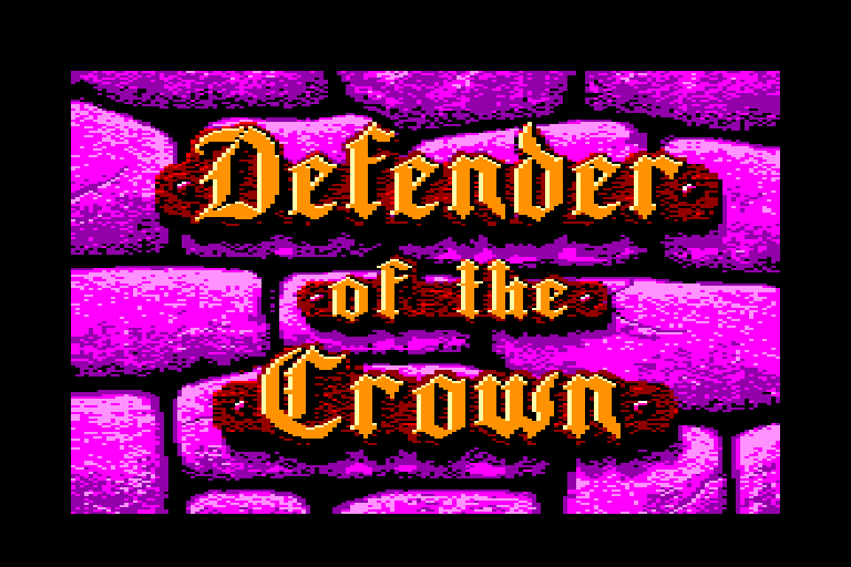 loading screen of the Amstrad CPC game Defender of the Crown