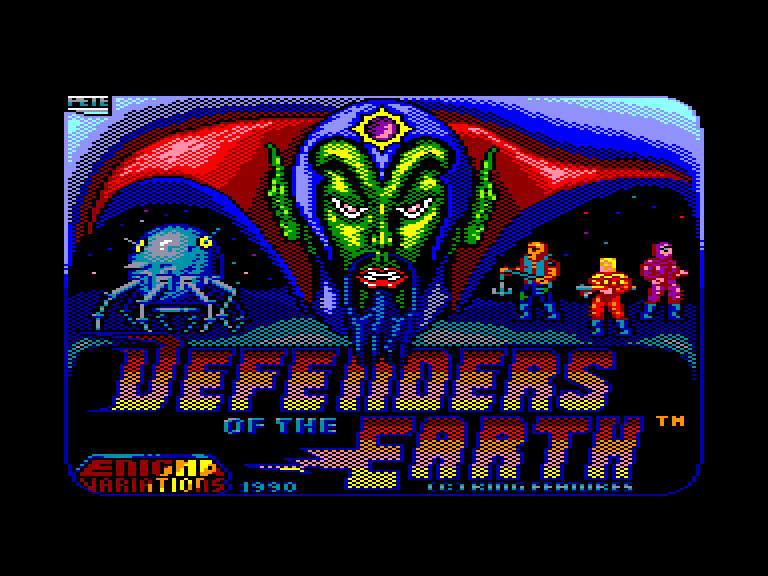 screenshot of the Amstrad CPC game Defenders of the Earth