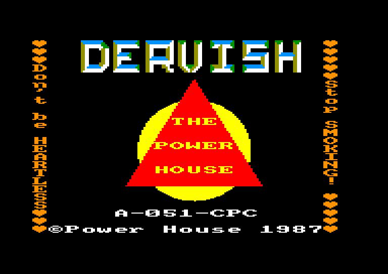 screenshot of the Amstrad CPC game Dervish