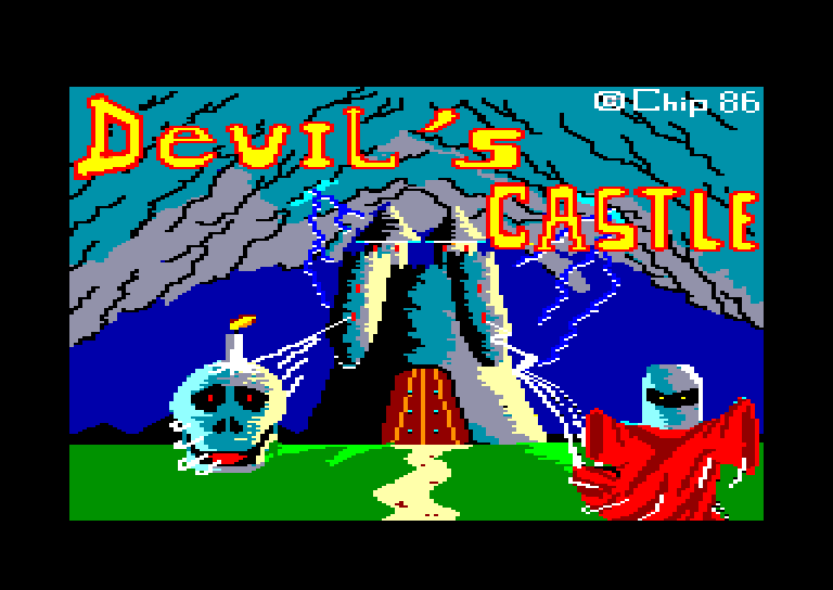 loading screen of the Amstrad CPC game Devil's Castle
