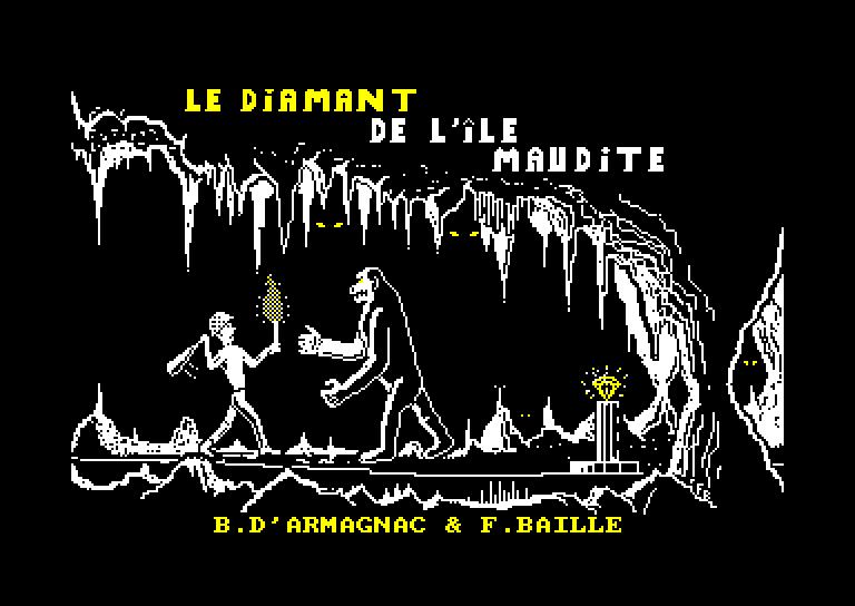 screenshot of the Amstrad CPC game Diamant de l'ile maudite (le)