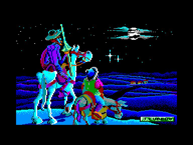 screenshot of the Amstrad CPC game Don Quijote de la Mancha