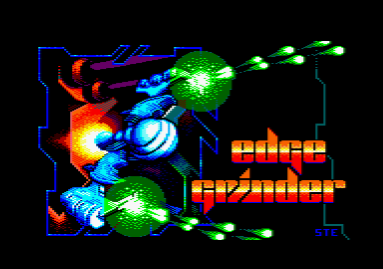 loading screen of the Amstrad CPC game Edge Grinder