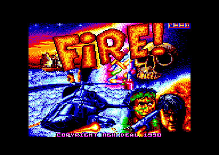 screenshot du jeu Amstrad CPC Fire !