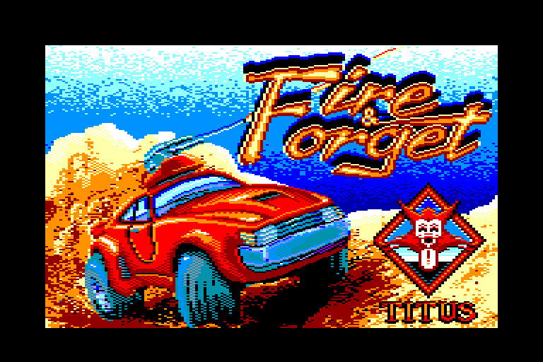 loading screen of the Amstrad CPC game Fire and Forget by Titus in 1988