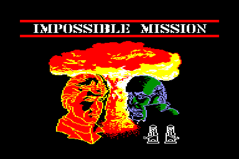 loading screen of the Amstrad CPC game Impossible Mission