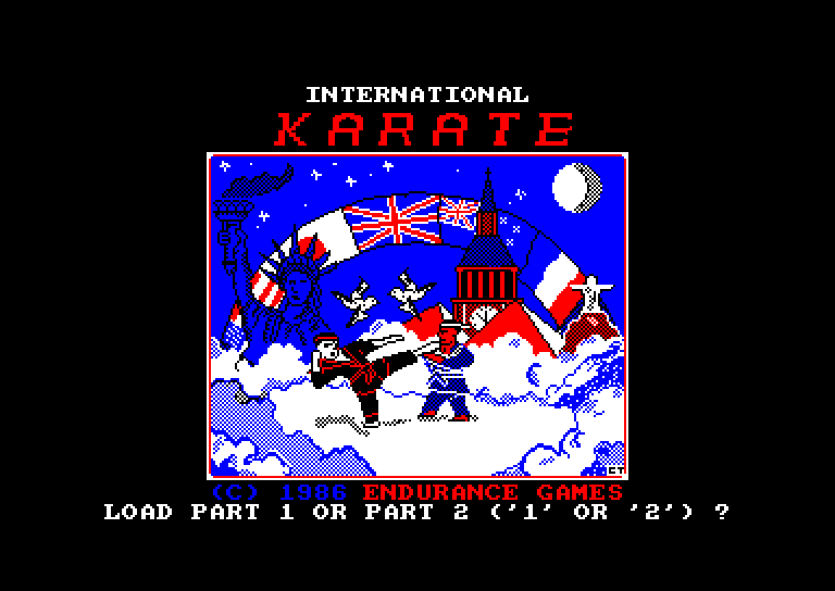 screenshot of the Amstrad CPC game International karate