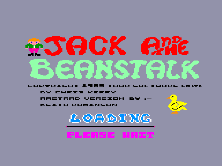 screenshot of the Amstrad CPC game Jack and the Beanstalk