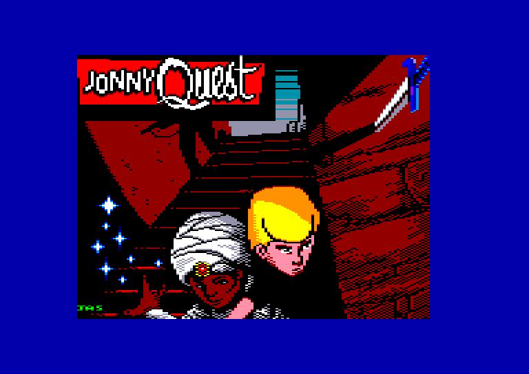 screenshot of the Amstrad CPC game Jonny quest