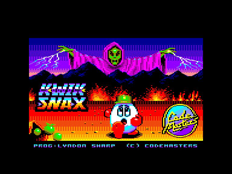 screenshot du jeu Amstrad CPC Kwik Snax Dizzy