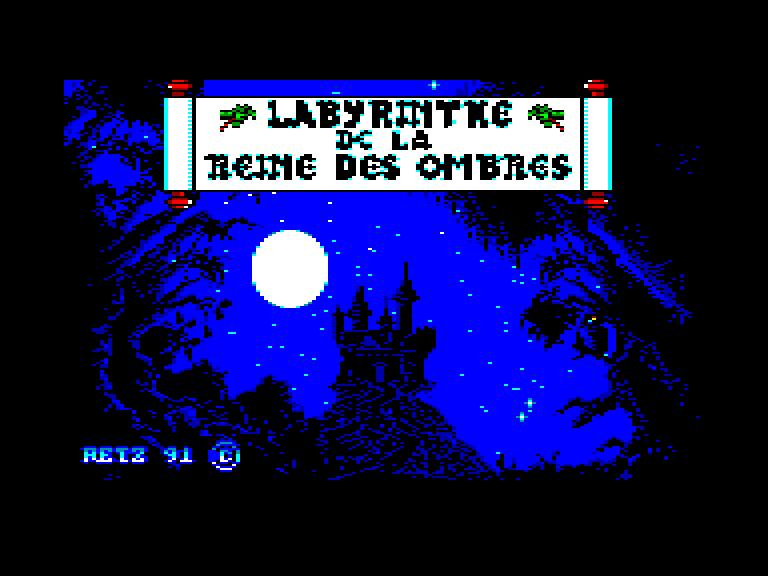 screenshot of the Amstrad CPC game Labyrinthe de la reine des ombres (le)