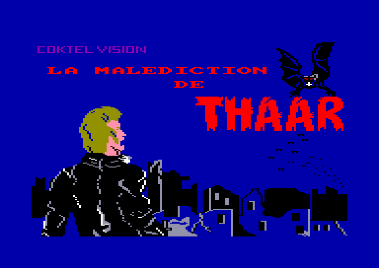 screenshot of the Amstrad CPC game Malediction de thaar