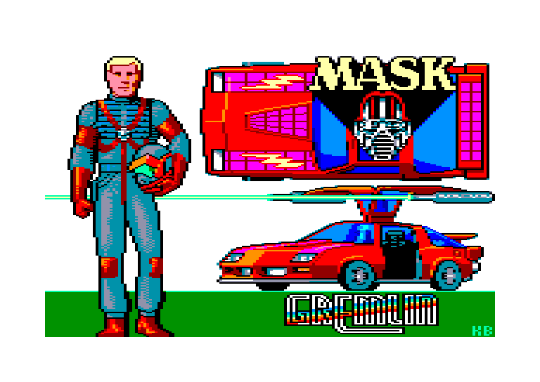 screenshot of the Amstrad CPC game Mask
