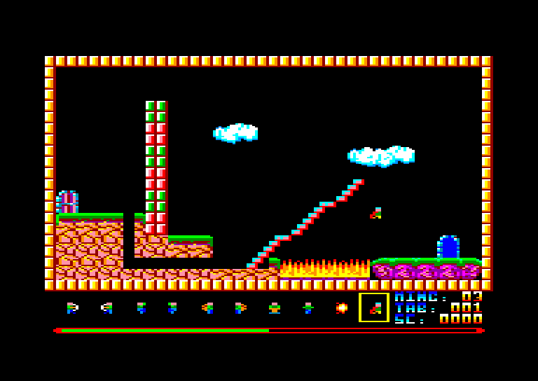 screenshot of the Amstrad CPC game Mings (les)
