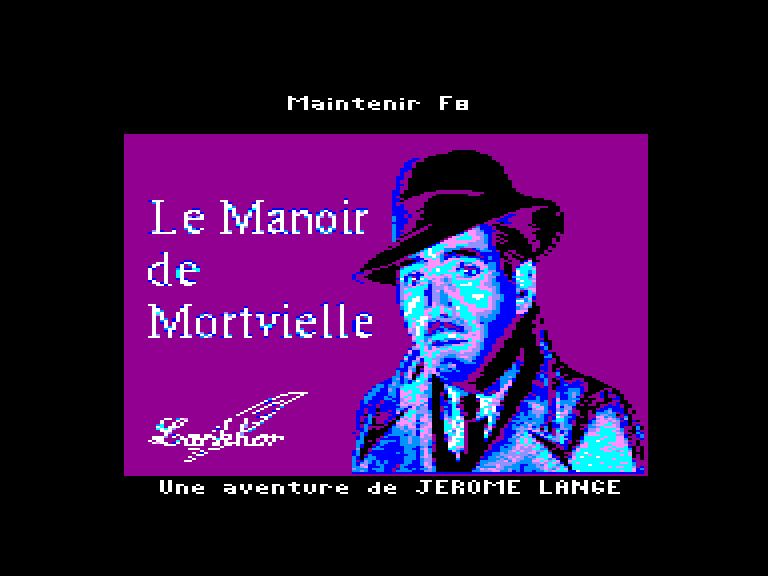 loading screen of the Amstrad CPC game le Manoir de Mortvielle