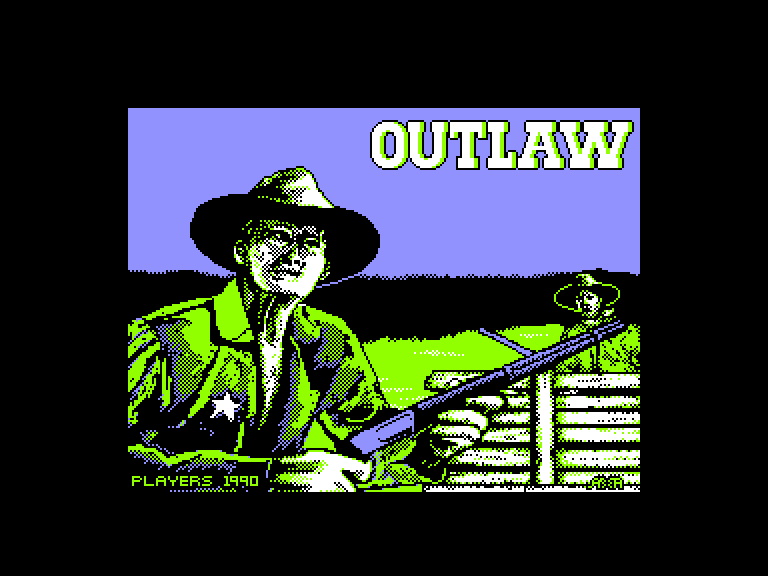 screenshot of the Amstrad CPC game Outlaw