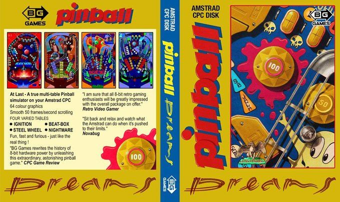 couverture physique de Pinball Dreams