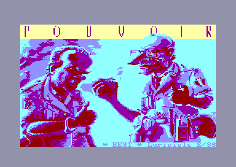 screenshot of the Amstrad CPC game Pouvoir