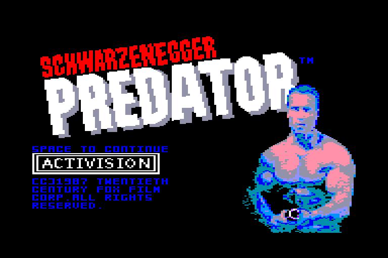 screenshot of the Amstrad CPC game Predator
