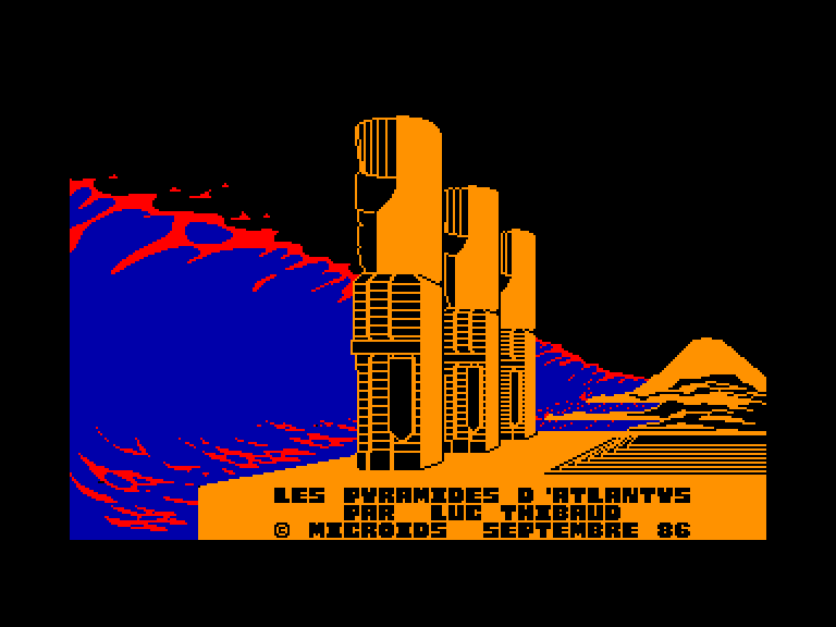 screenshot of the Amstrad CPC game Pyramides d'atlantys (les)