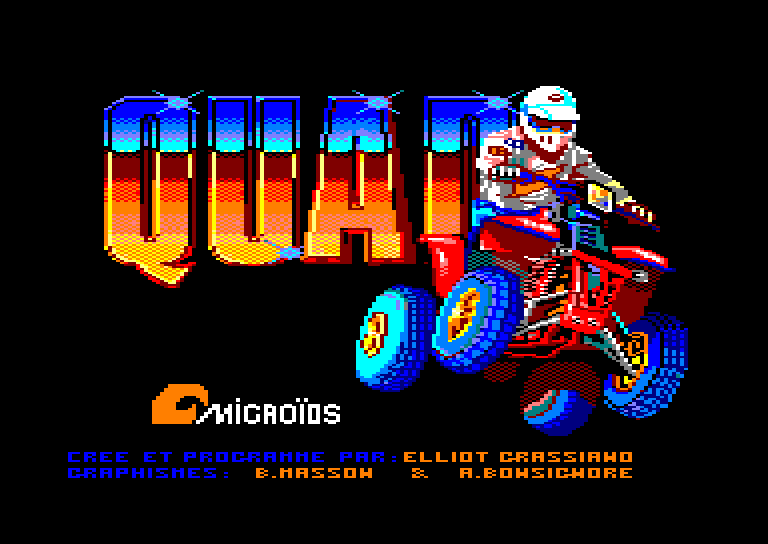 screenshot of the Amstrad CPC game Quad