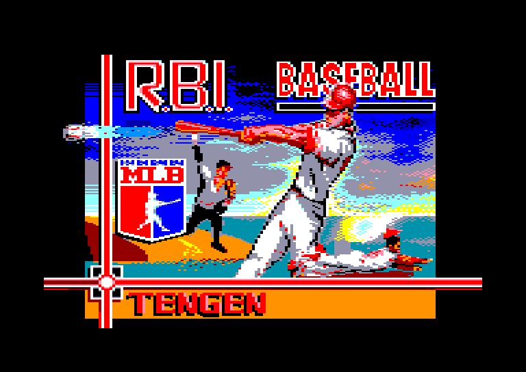 screenshot of the Amstrad CPC game R.B.I. Baseball 2
