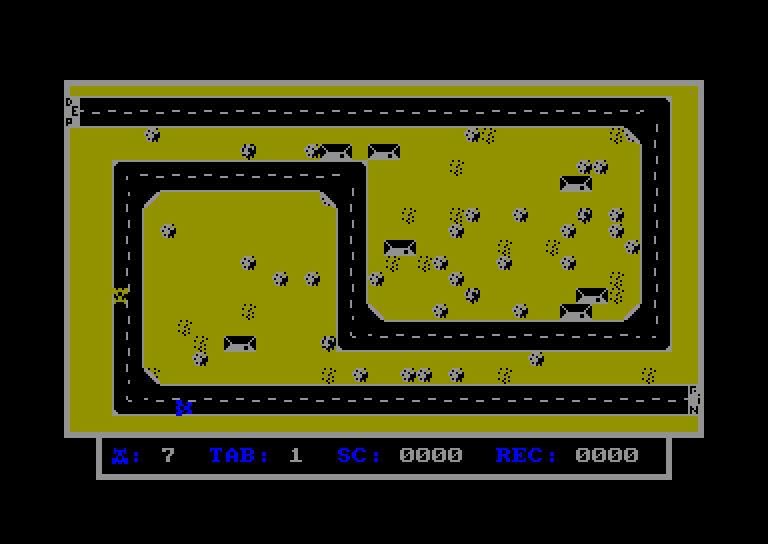 screenshot of the Amstrad CPC game Rally 22