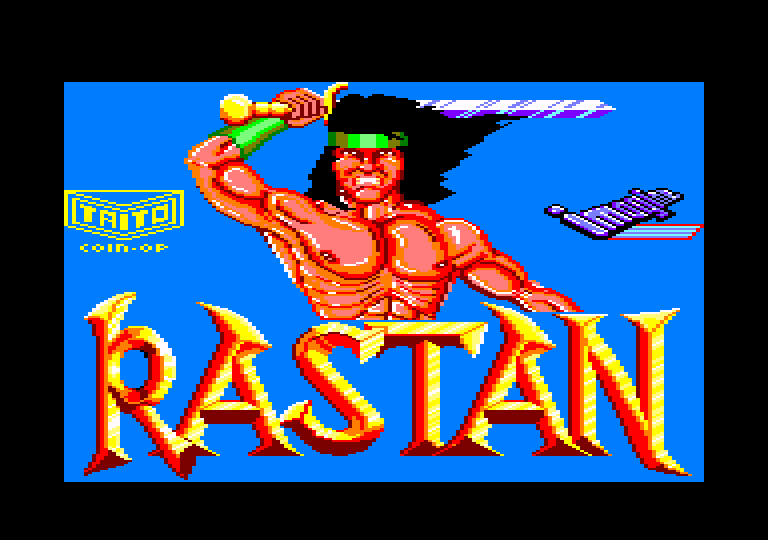 screenshot of the Amstrad CPC game Rastan