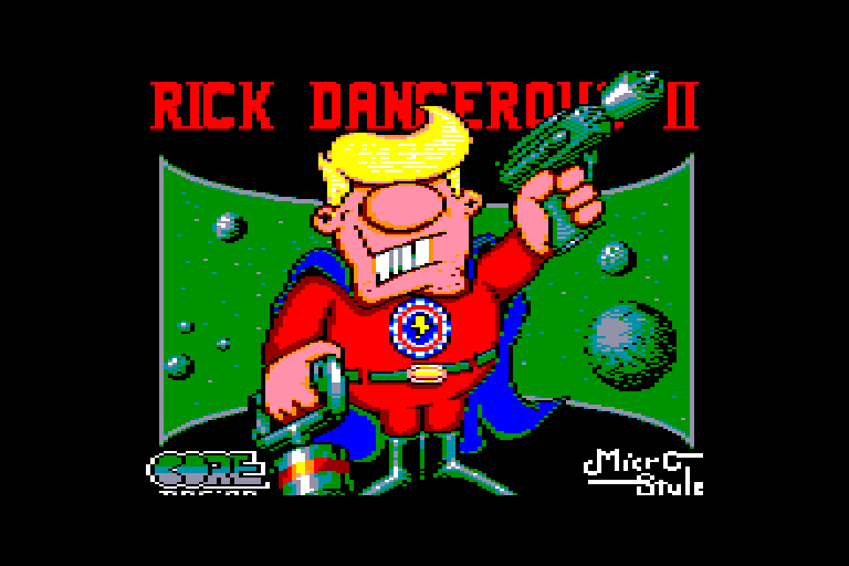 loading screen of the Amstrad CPC game Rick Dangerous 2