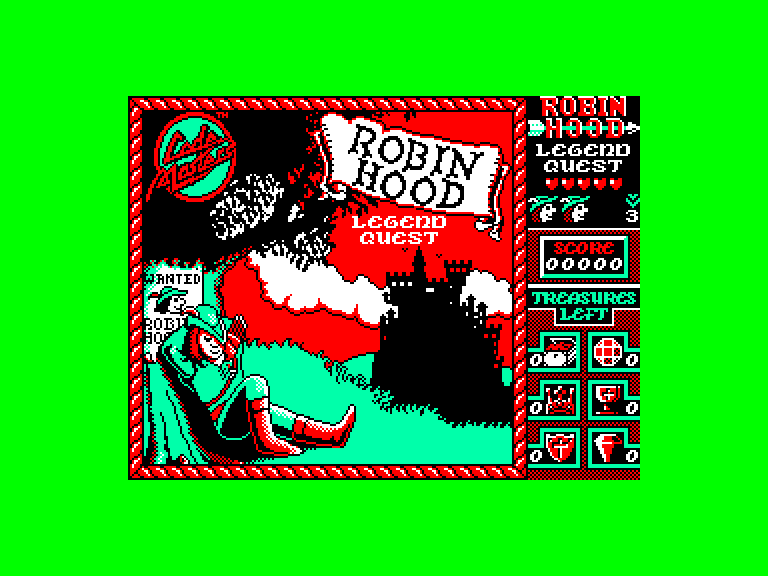 screenshot du jeu Amstrad CPC Robin Hood - Legend Quest