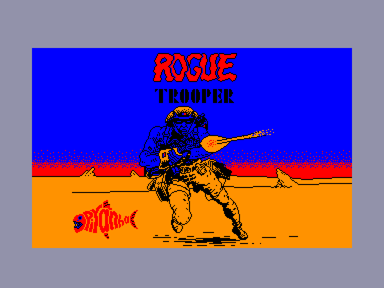 screenshot of the Amstrad CPC game Rogue Trooper