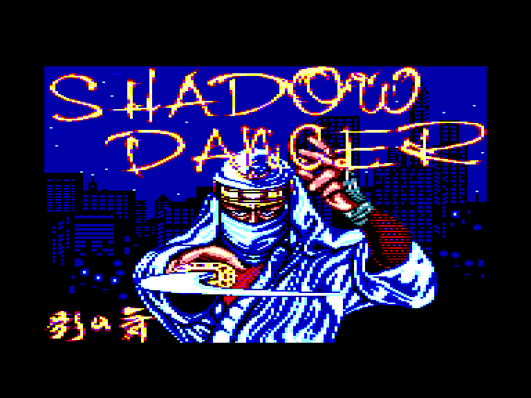 loading screen of the Amstrad CPC game Shadow Dancer