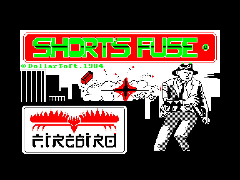 screenshot of the Amstrad CPC game Short's fuse